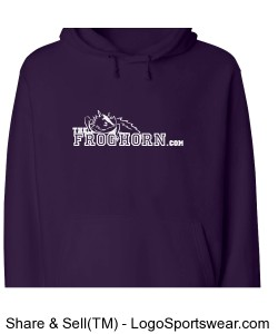 Adult Comfort Fleece Hooded Sweatshirt Design Zoom